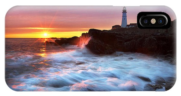 Portland Head Sunrise IPhone Case