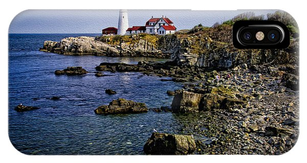 IPhone Case featuring the photograph Portland Headlight 37 Oil by Mark Myhaver