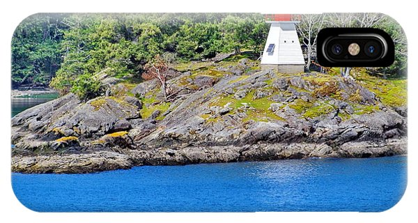 Portlock Point Lighthouse In British Columbia IPhone Case