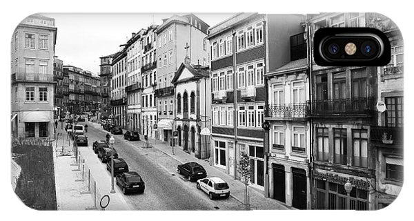 Porto Street Parking Phone Case by John Rizzuto