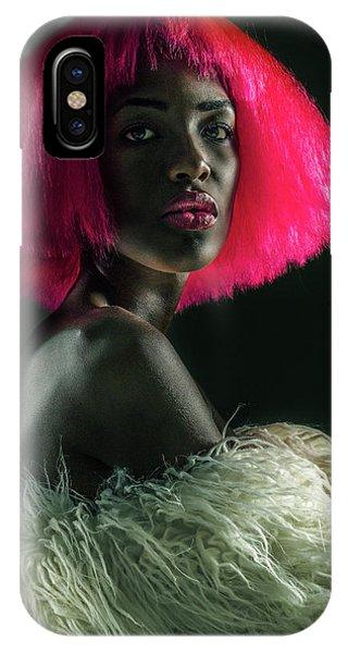 Hair iPhone Case - Portrait In Noir #1 by Jackson Carvalho