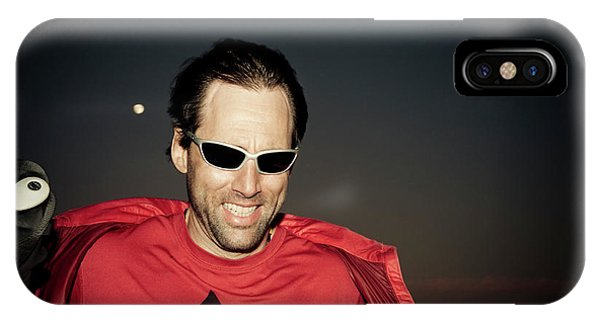 Barbara Steele iPhone Case - Portrait Of A Blind Athlete Leaning by Kevin Steele