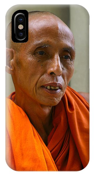 Portrait Of A Buddhist Monk Yangon Myanmar IPhone Case