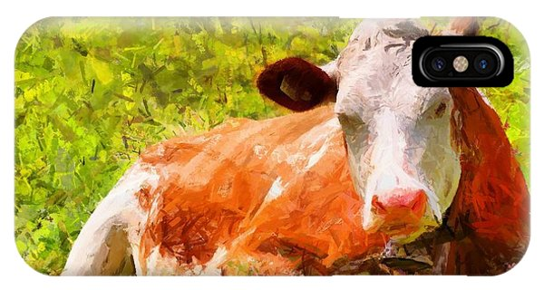 Portrait Of A Cow 2 IPhone Case