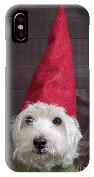 Elf iPhone X Case - Portrait Of A Garden Gnome by Edward Fielding