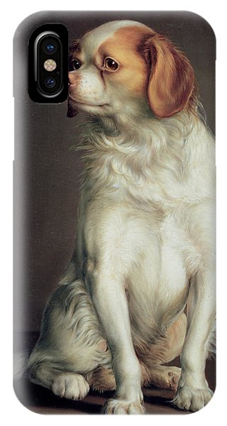 King Charles iPhone Case - Portrait Of A King Charles Spaniel by Louis Leopold Boilly