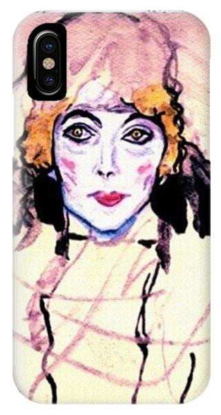 iPhone Case - Portrait Of A Lady En Face After Gustav Klimt by Anna Porter