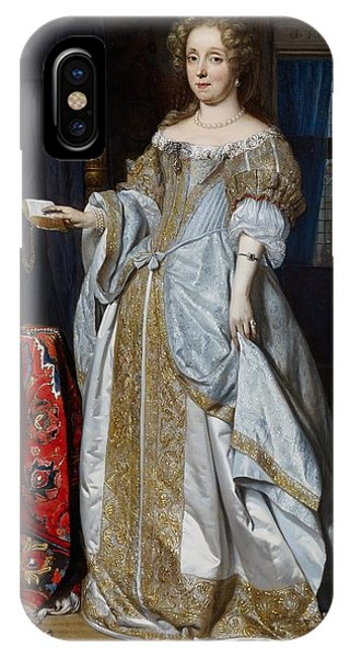 King Charles iPhone Case - Portrait Of A Lady by Gabriel Metsu