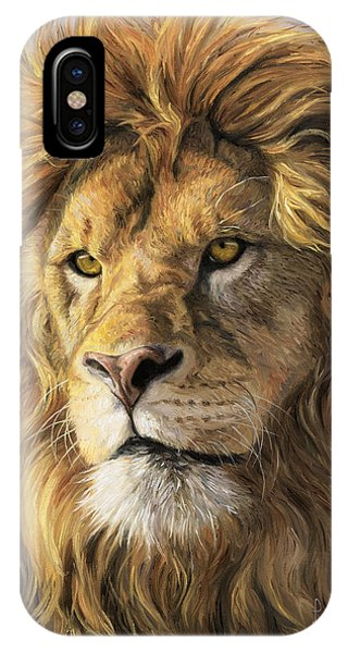 Africa iPhone X Case - Portrait Of A Lion by Lucie Bilodeau