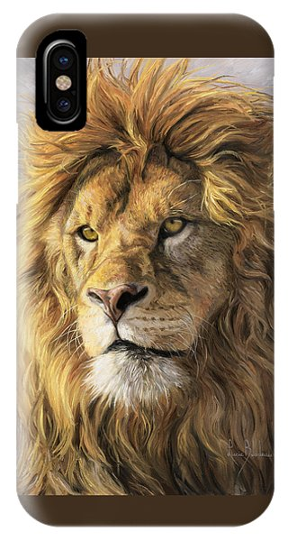 Lions iPhone Case - Portrait Of A Lion by Lucie Bilodeau
