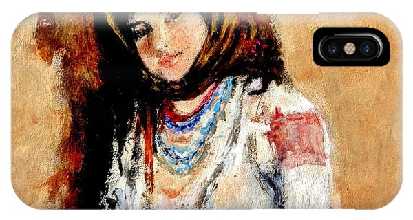 Portrait Of A Little Peasant Girl.. IPhone Case