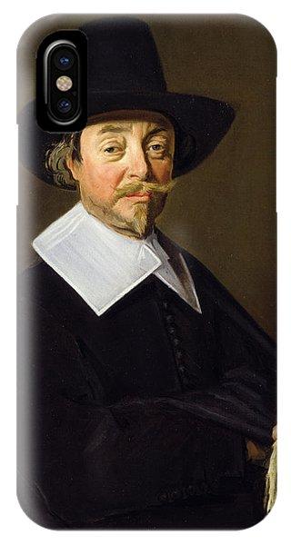 Moustache iPhone Case - Portrait Of A Man, C.1643-45 by Frans Hals
