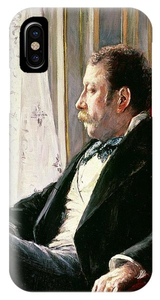Deep Thought iPhone Case - Portrait Of A Man by Gustave Caillebotte