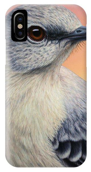 Closeup iPhone Case - Portrait Of A Mockingbird by James W Johnson