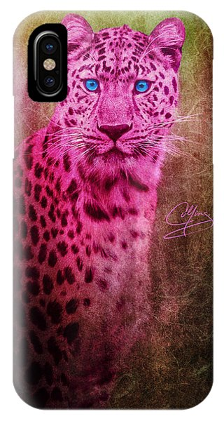Portrait Of A Pink Leopard IPhone Case