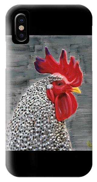 IPhone Case featuring the painting Portrait Of A Rooster by Deborah Boyd