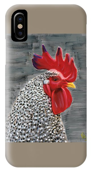 Portrait Of A Rooster IPhone Case
