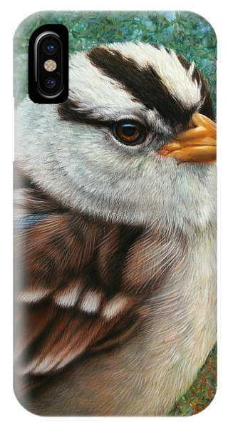 Sparrow iPhone Case - Portrait Of A Sparrow by James W Johnson