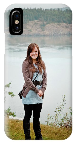 Whidbey iPhone Case - Portrait Of A Young Woman by Christopher Kimmel