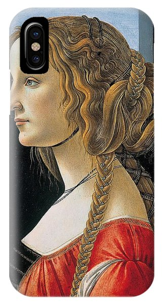 Botticelli iPhone Case - Portrait Of A Young Woman by Sandro Botticelli