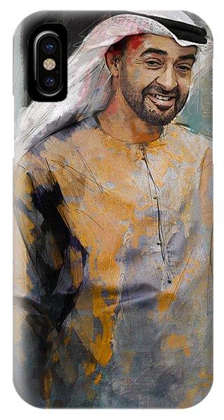 Portrait Of Abdullah Bin Zayed Al Nahyen 5 IPhone Case