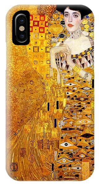 IPhone Case featuring the painting Portrait Of Adele Bloch-bauer by Gustav Klimt
