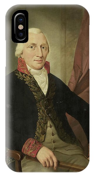Wiese iPhone Case - Portrait Of Albertus Henricus Wiese, Governor-general by Litz Collection