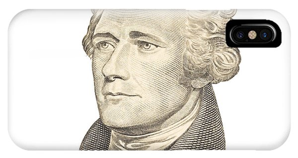 Portrait Of Alexander Hamilton On White Background IPhone Case
