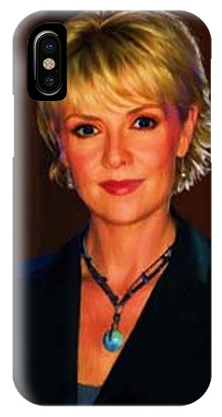 Portrait Of Amanda Tapping IPhone Case