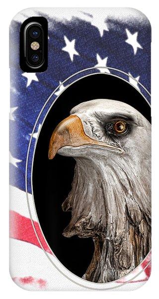 American Flag iPhone Case - Portrait Of America by Tom Mc Nemar