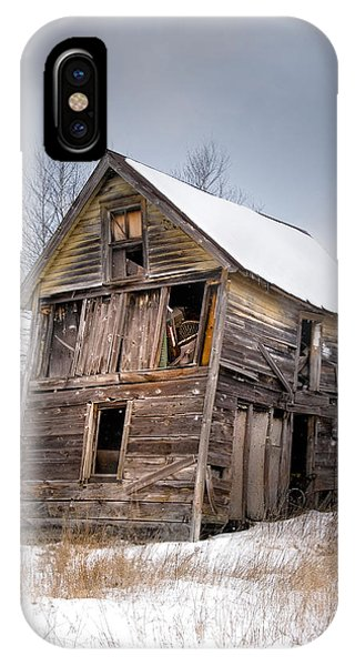 IPhone Case featuring the photograph Portrait Of An Old Shack - Agriculural Buildings And Barns by Gary Heller
