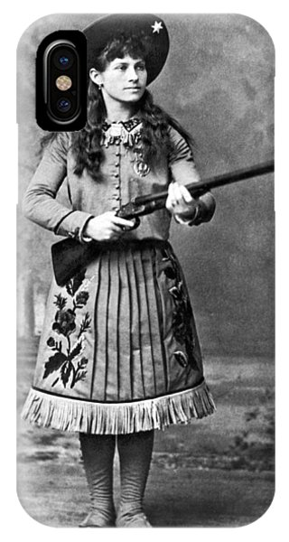 Sharpshooter iPhone Case - Portrait Of Annie Oakley by Underwood Archives