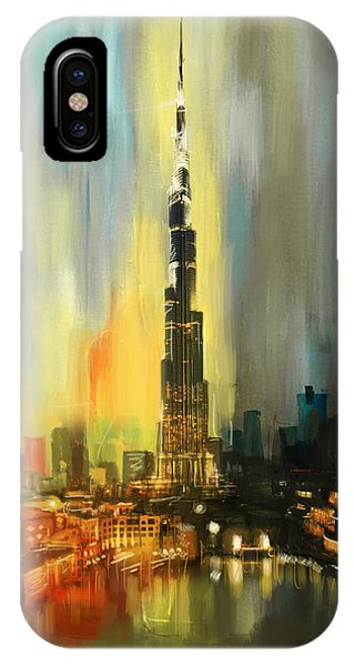 Portrait Of Burj Khalifa IPhone Case