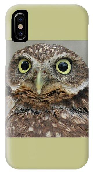 Portrait Of Burrowing Owl IPhone Case