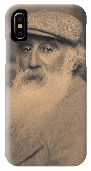 French Painter iPhone Case - Portrait Of Camille Pissarro 1830-1903 Bw Photo by French School
