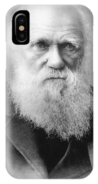 Head And Shoulders iPhone Case - Portrait Of Charles Darwin by Underwood Archives