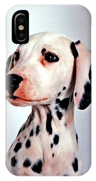 Portrait Of Dalmatian Dog IPhone Case