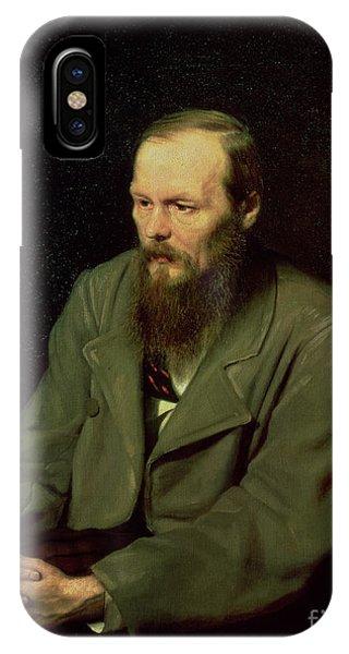 Deep Thought iPhone Case - Portrait Of Fyodor Dostoyevsky by Vasili Grigorevich Perov