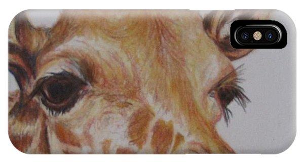 Portrait Of Giraffe IPhone Case