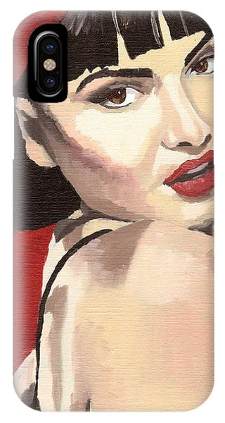 IPhone Case featuring the painting Portrait Of Jenny Bauer by Stephen Panoushek