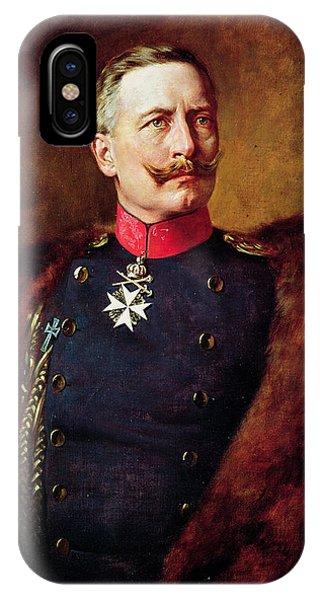 Moustache iPhone Case - Portrait Of Kaiser Wilhelm II 1859-1941 by Bruno Heinrich Strassberger
