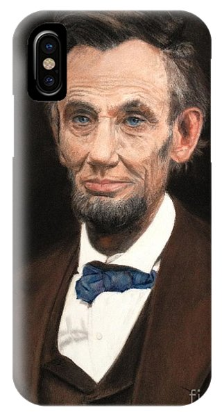 Portrait Of Lincoln IPhone Case