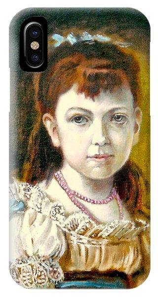 Portrait Of Little Girl IPhone Case