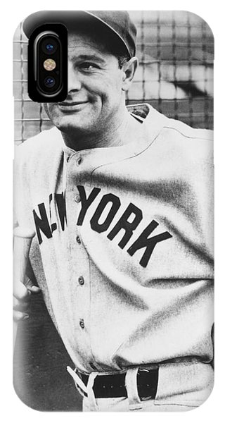 Portrait Of Lou Gehrig IPhone Case