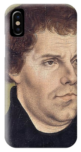Lutheran iPhone Case - Portrait Of Martin Luther Aged 43 by Lucas Cranach