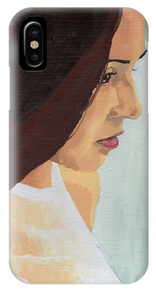 IPhone Case featuring the painting Portrait Of Miranda by Stephen Panoushek