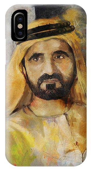 Portrait Of Muhammad Bin Rashid Al Maktoum IPhone Case
