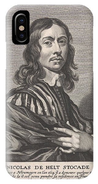 Portrait Of Nicolaes Van Helt Stocade, Pieter De Jode II Phone Case by Pieter De Jode (ii) And Joannes Meyssens