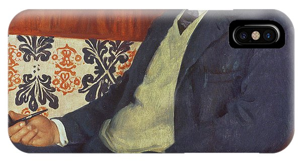 Nobel iPhone Case - Portrait Of Peter Kapitza 1926 by Boris Mihajlovic Kustodiev
