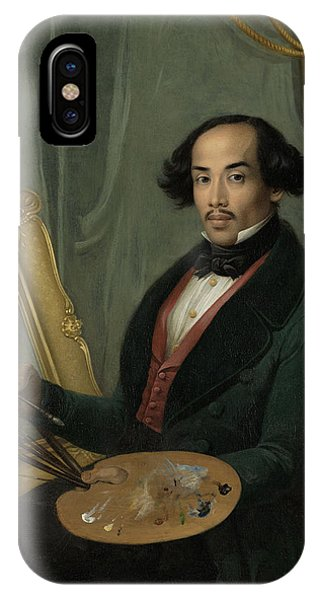 Portrait Of Raden Syarif Bustaman Saleh, Attributed Phone Case by Quint Lox